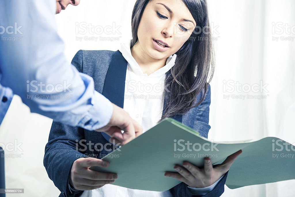 Business office teamwork stock photo
