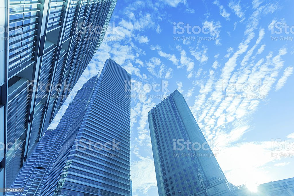 Business Offices Skyscrapers at Sunrise royalty-free stock photo
