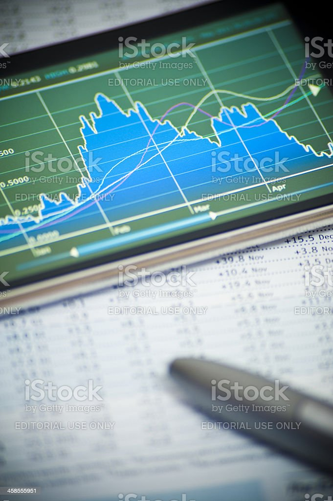 Business on Apple Mobile Device royalty-free stock photo