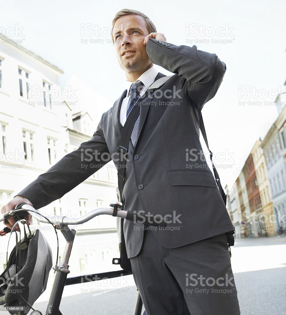 Business on call royalty-free stock photo