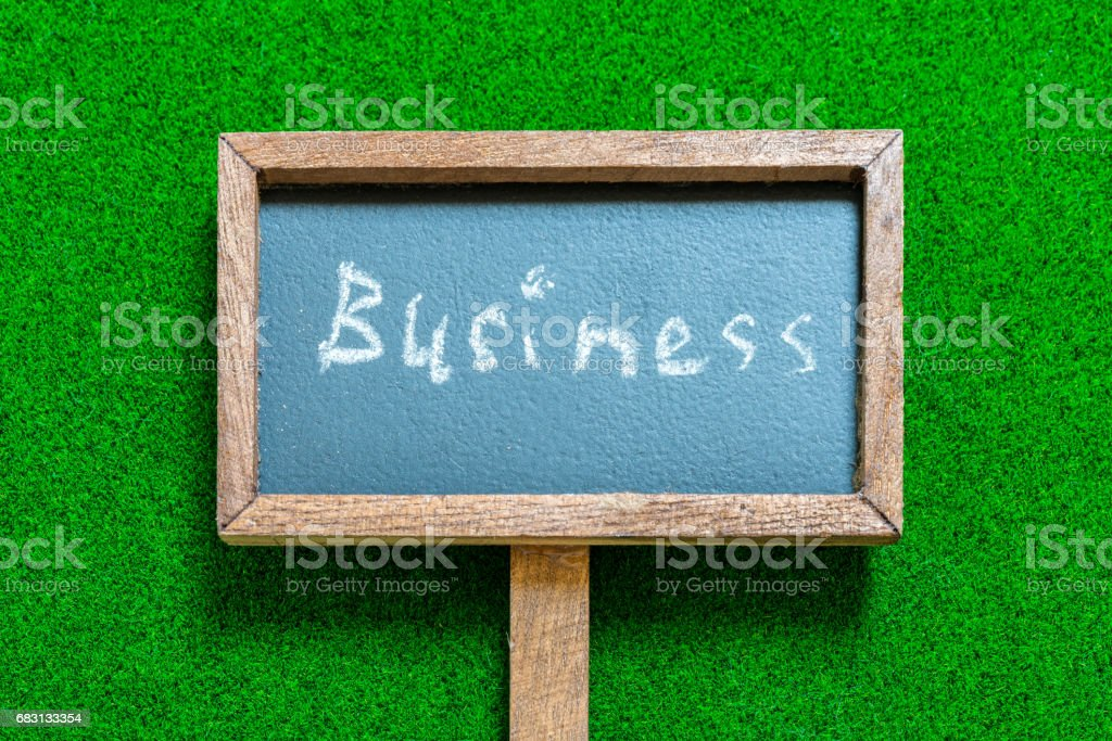 Business on signboard stock photo