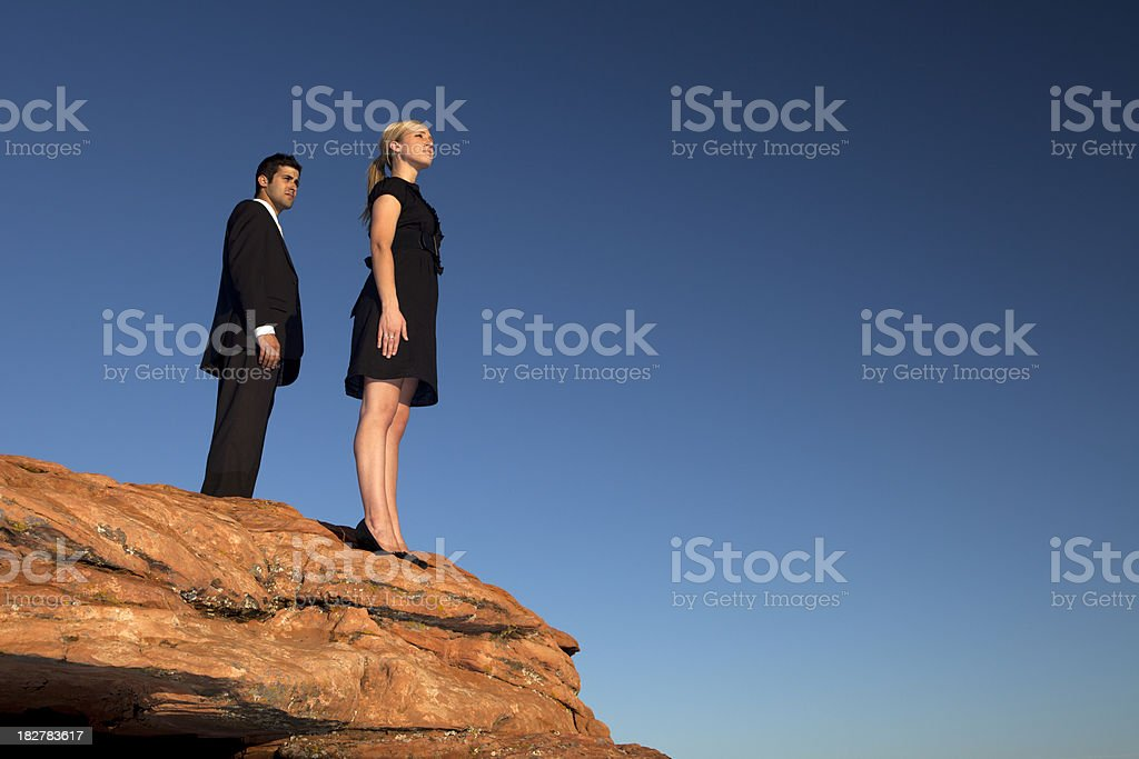 Business On The Edge royalty-free stock photo