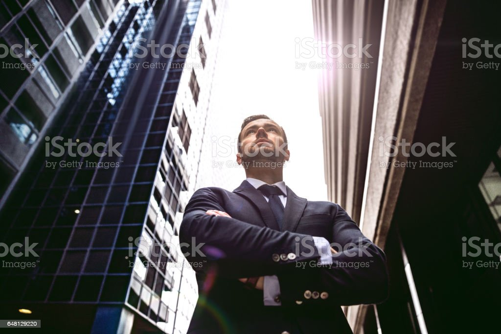 Business on the go in the city of London stock photo