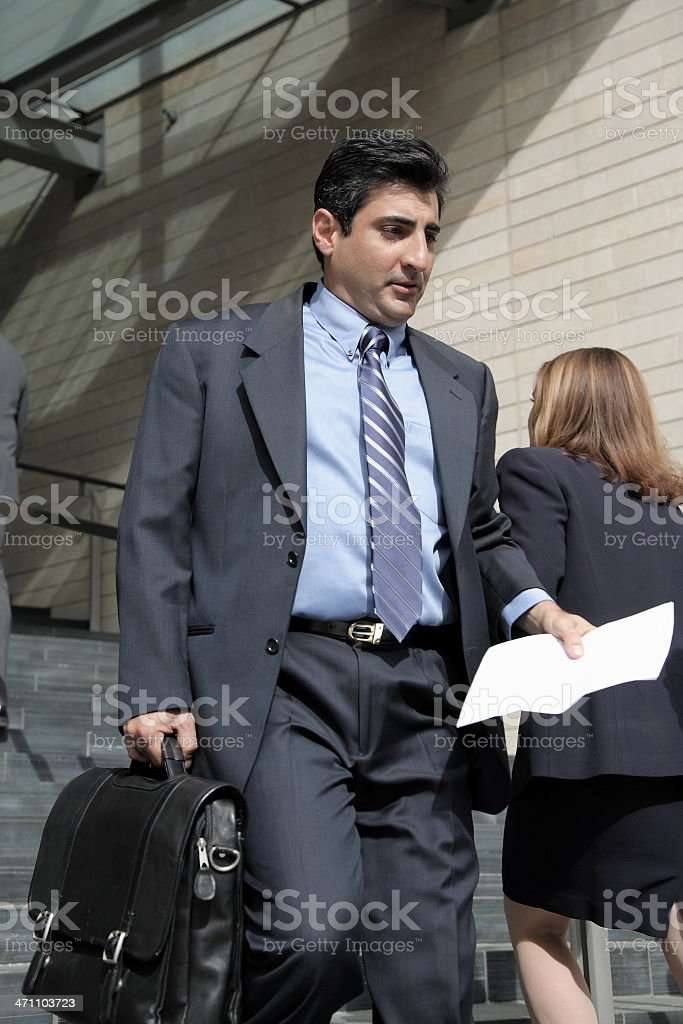 Business on the go royalty-free stock photo