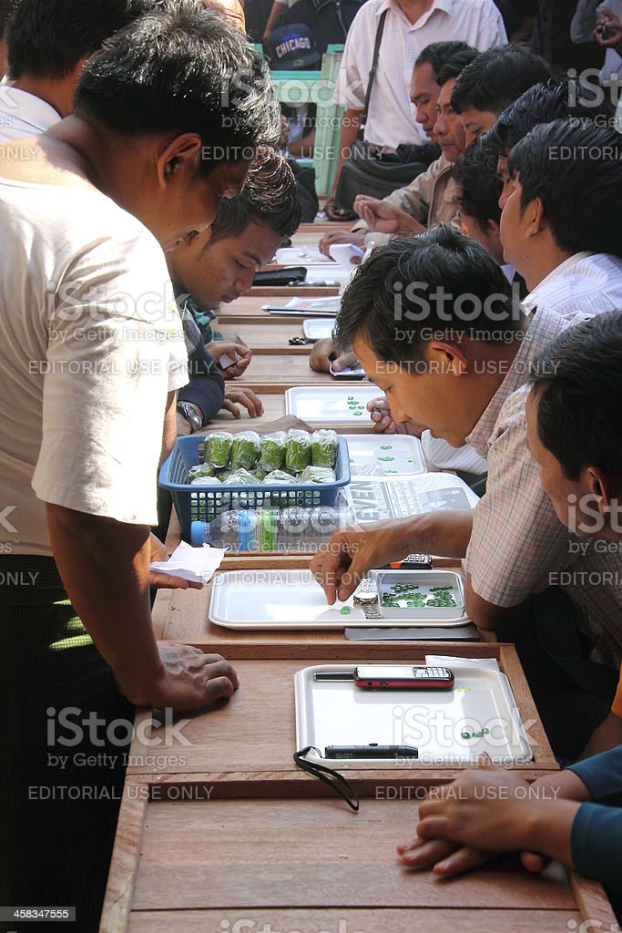 business on the jade market royalty-free stock photo
