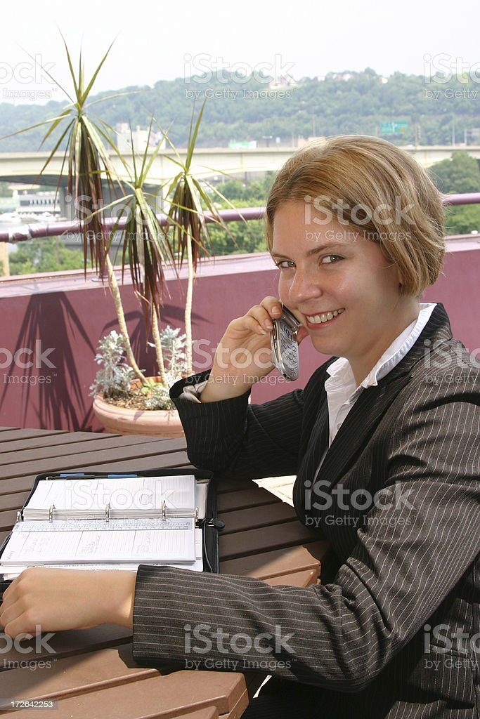 Business On The Patio royalty-free stock photo