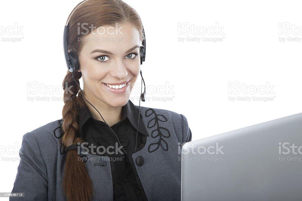 Business online customer service representative royalty-free stock photo