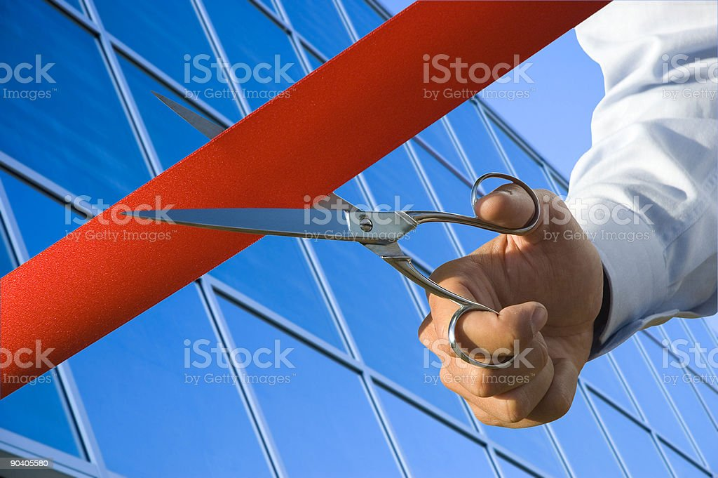 Business opening stock photo
