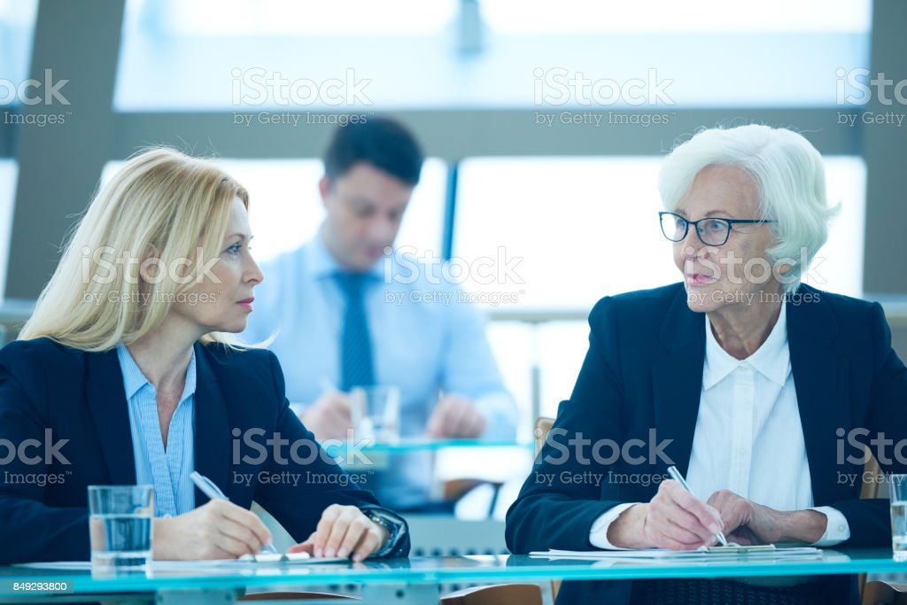 Business opponents stock photo