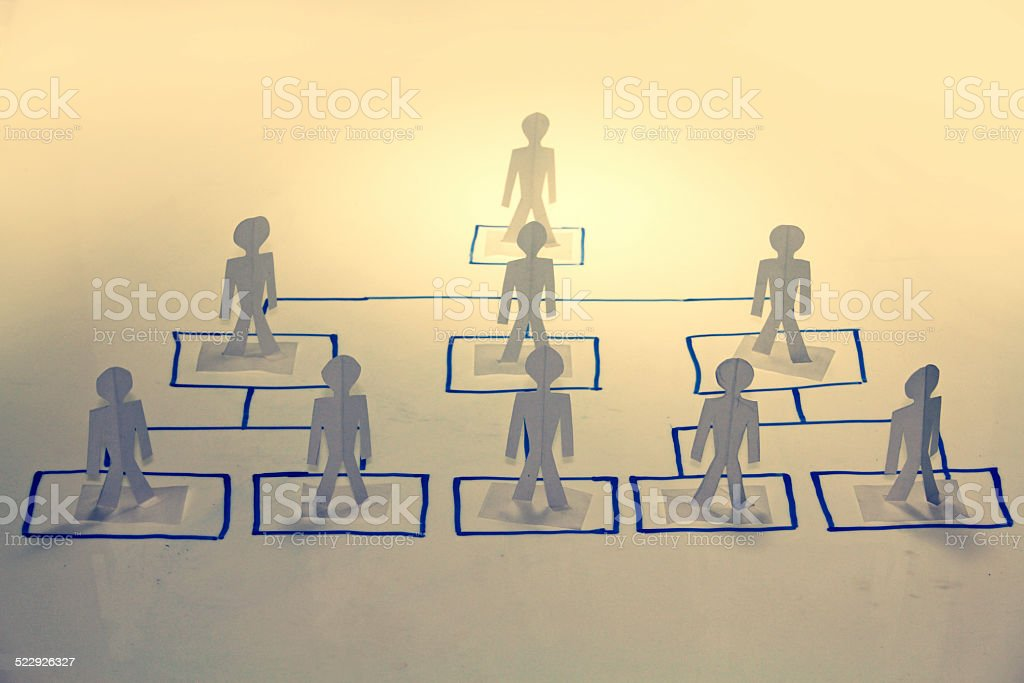 Business Organization Chart, Concept stock photo