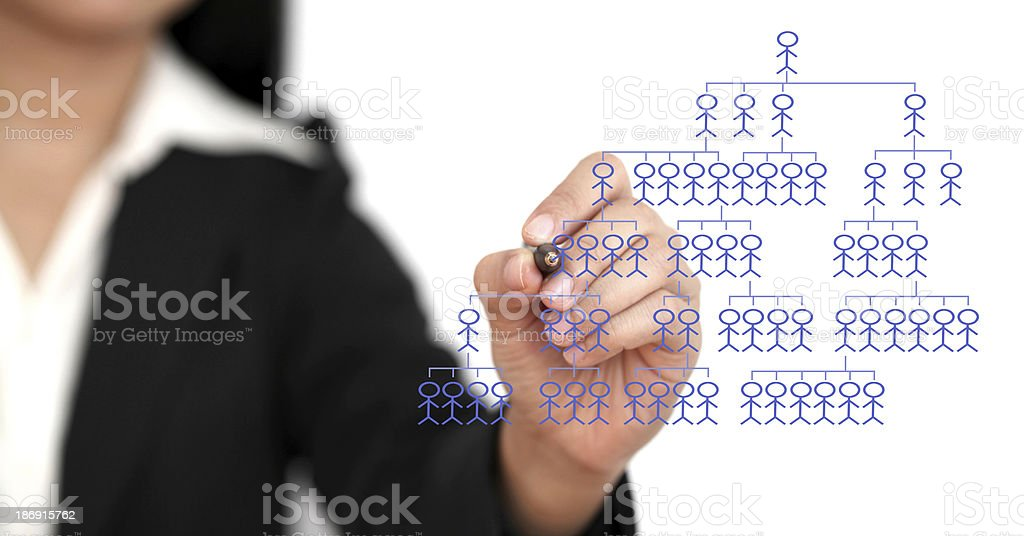 business organization chart stock photo