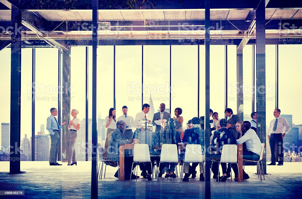 Business Organization People Working Togetherness Meeting Concep stock photo