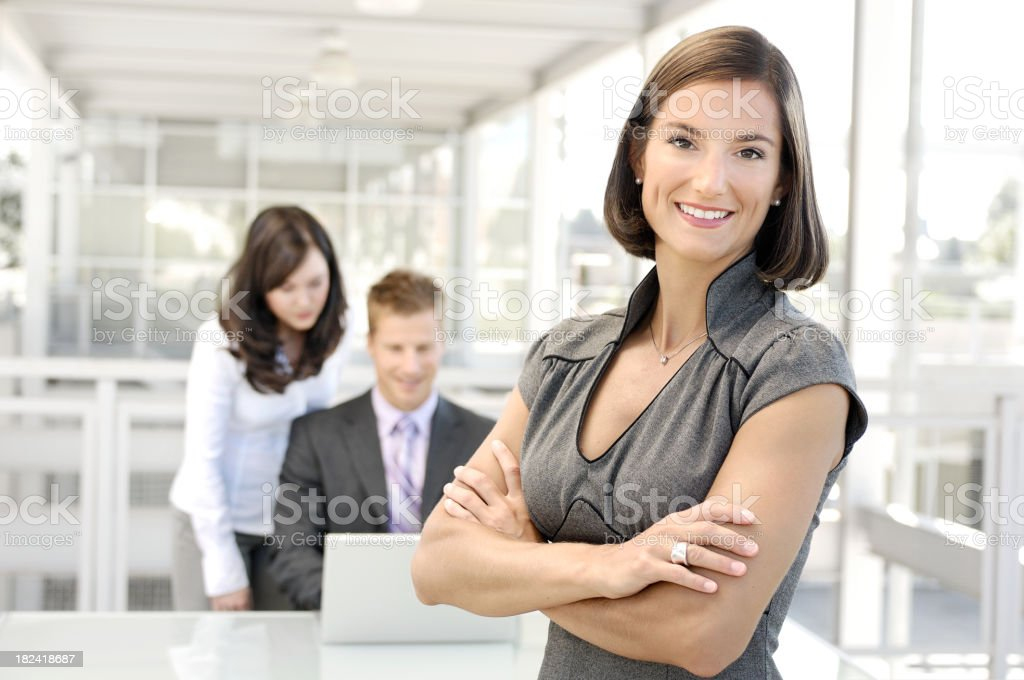 Business owner and employees royalty-free stock photo