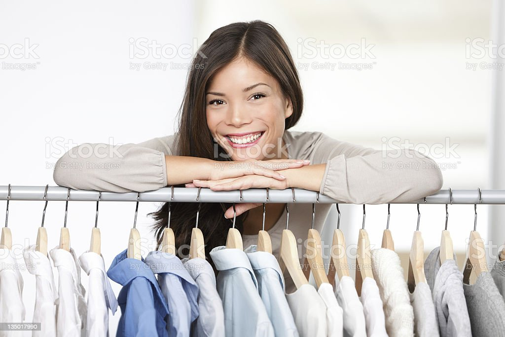Business owner - clothes store royalty-free stock photo