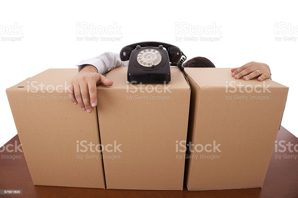 Business packaging service royalty-free stock photo