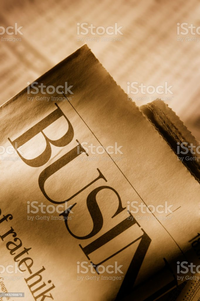 Business Page 2 royalty-free stock photo