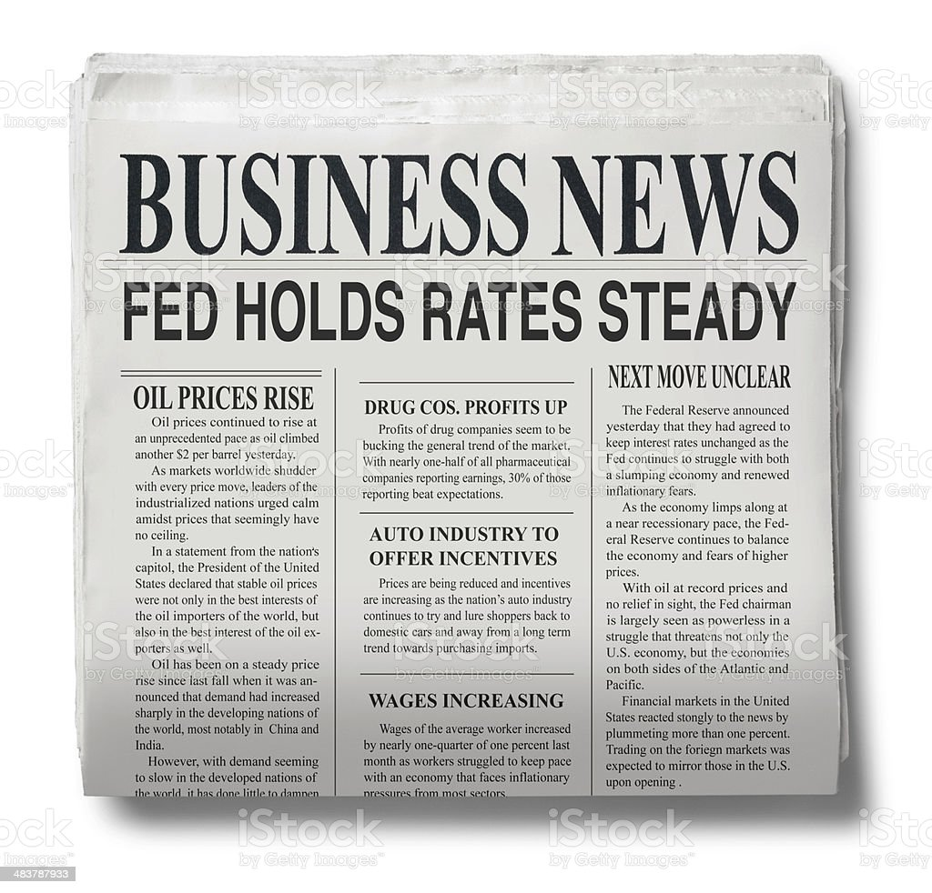 Business Page stock photo