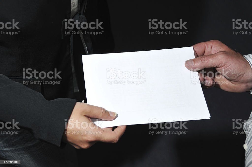 Business Paper royalty-free stock photo