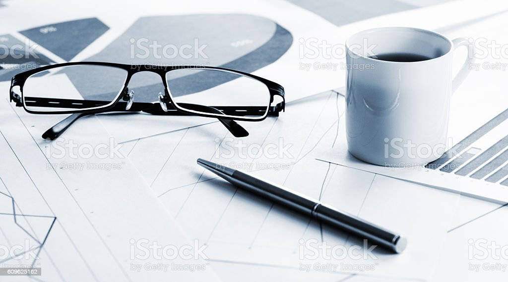 Business papers stock photo
