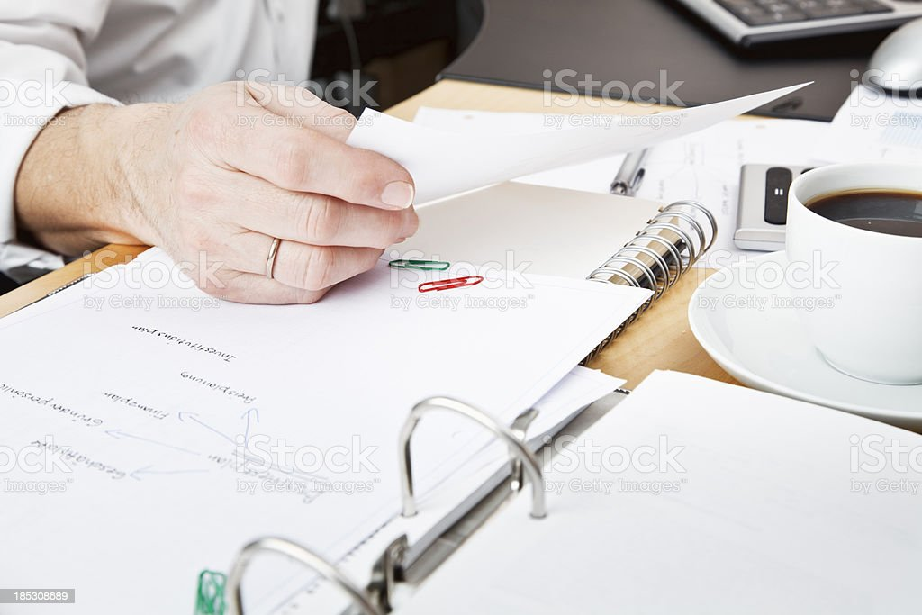 business paperwork planning calculation royalty-free stock photo