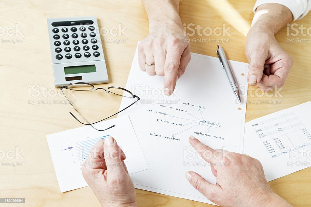 business paperwork planning discussion royalty-free stock photo