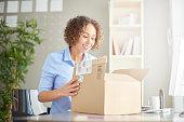 business parcel unpacking