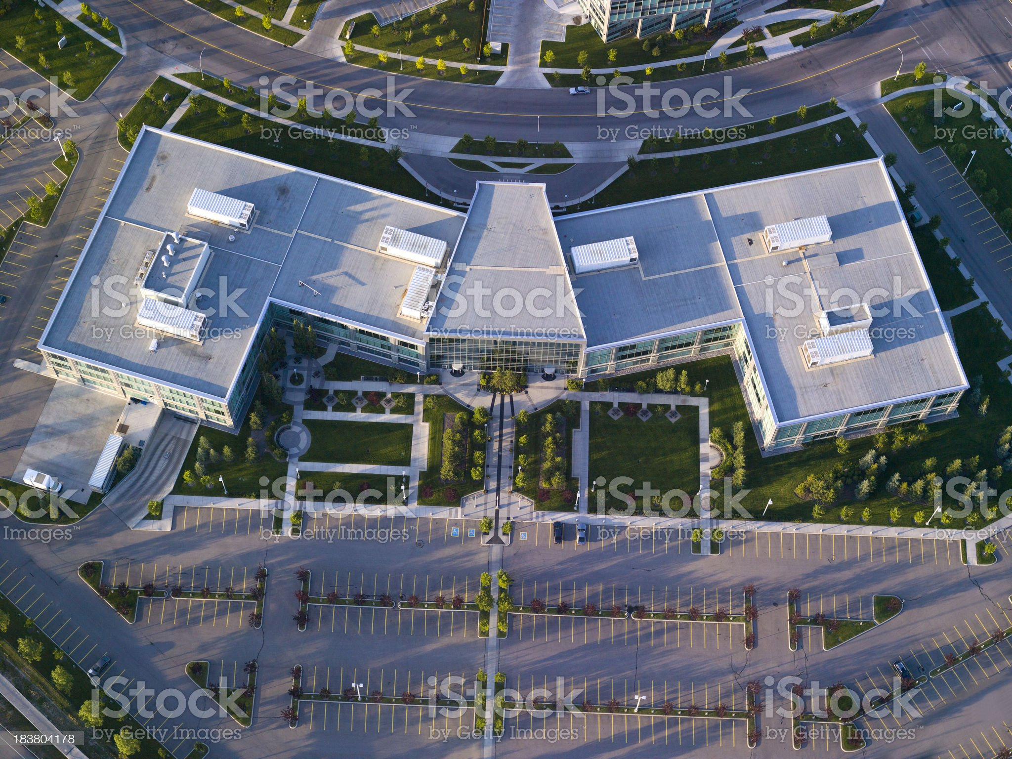 Business Park Aerial VIew royalty-free stock photo