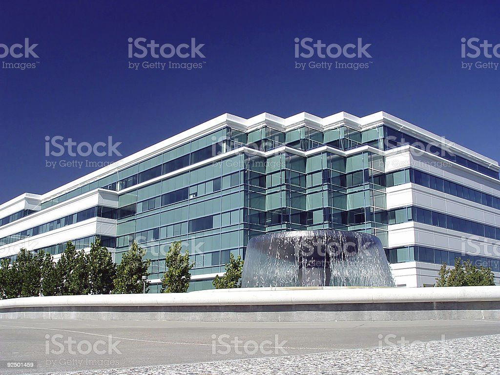 Business Park Building With Fountain royalty-free stock photo