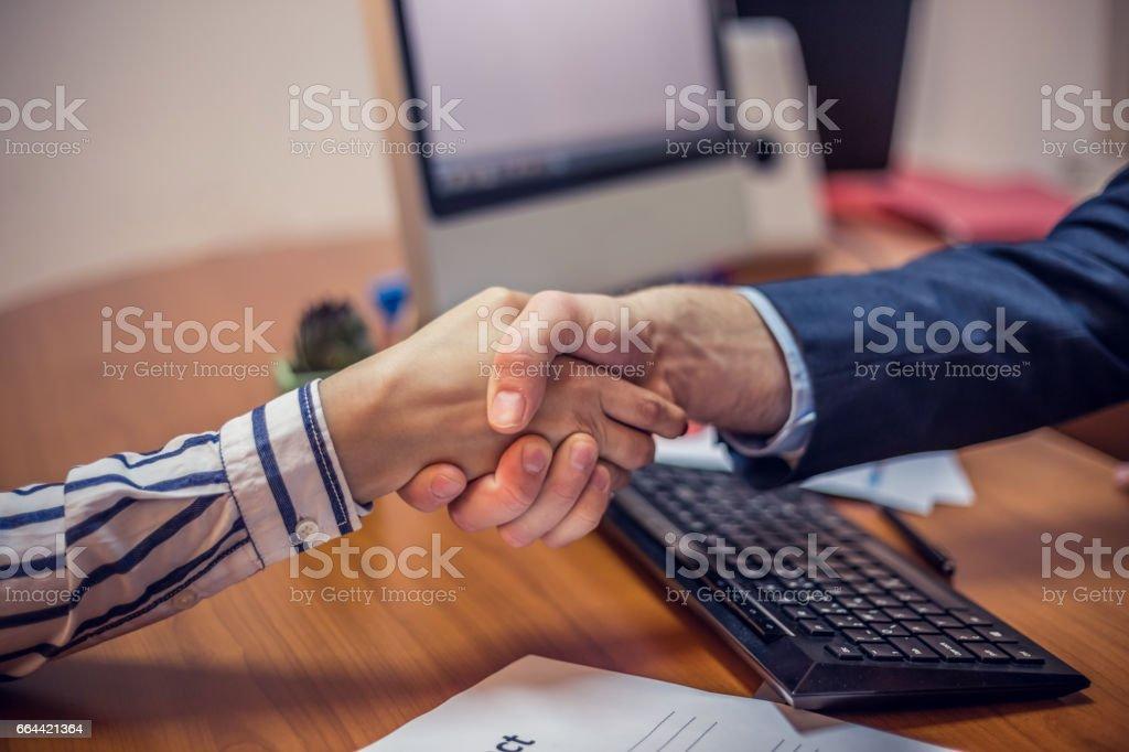 Business parners handshake stock photo