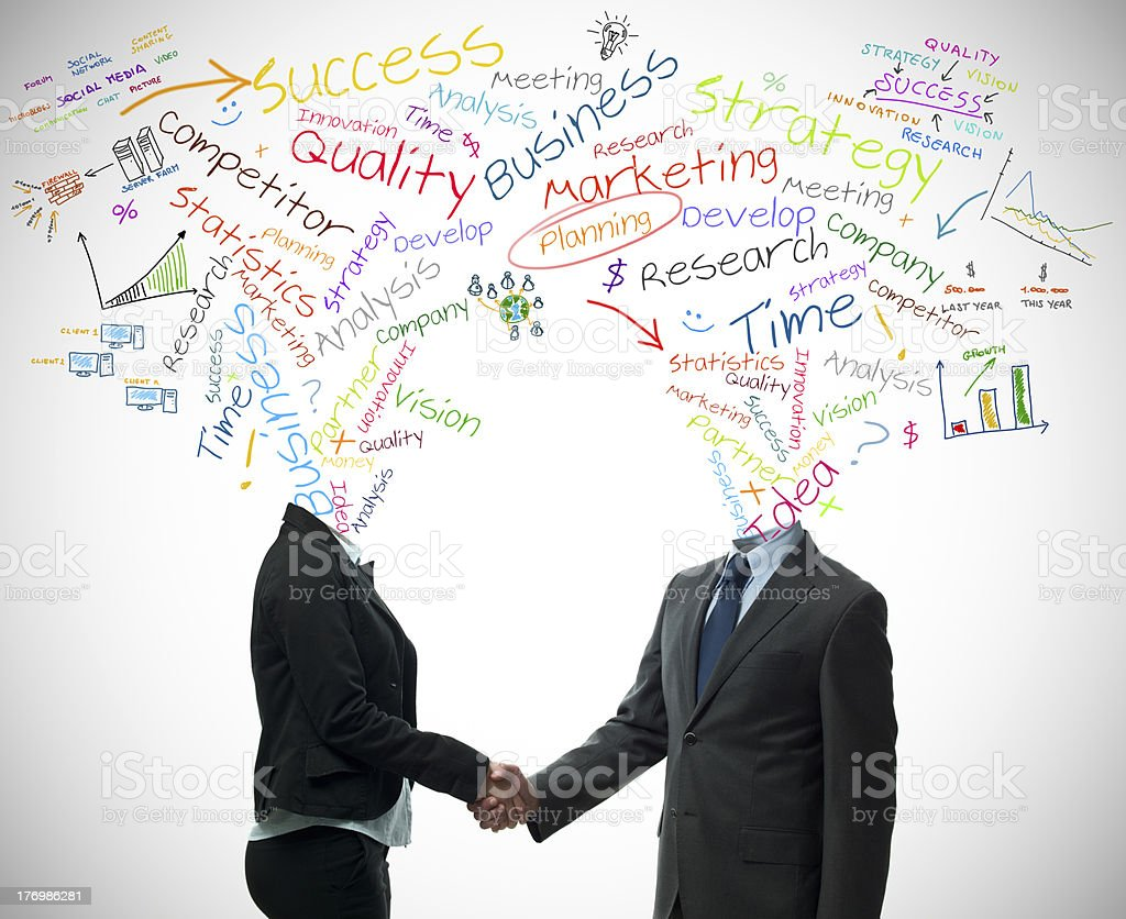 Business partner concept royalty-free stock photo