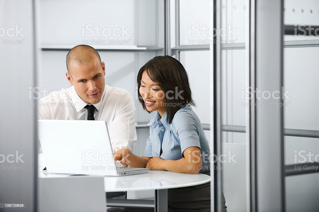 Business partners busy working royalty-free stock photo