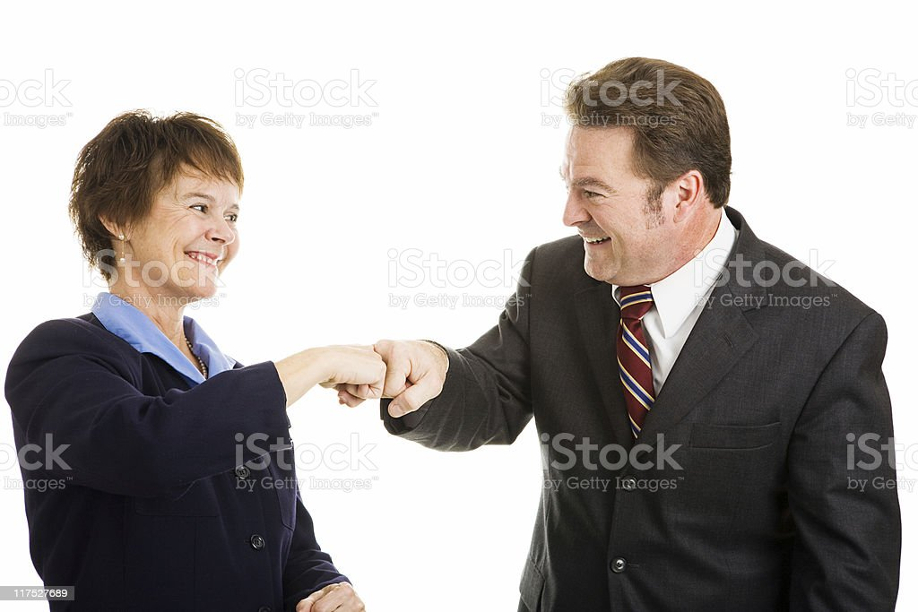 Business Partners Fist Bump royalty-free stock photo