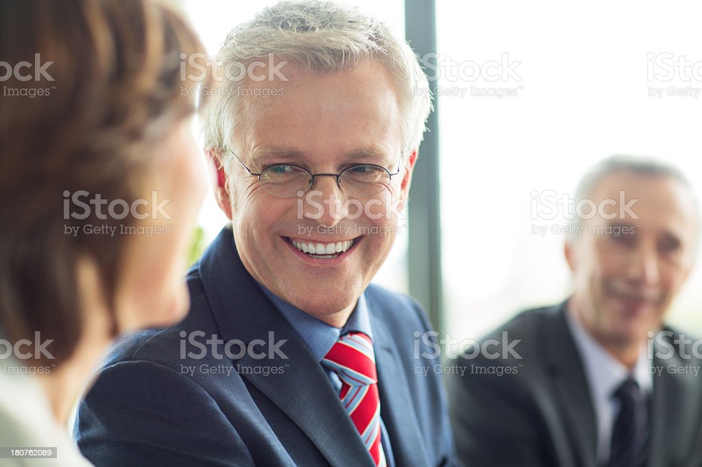 Business partners having a successful conversation royalty-free stock photo