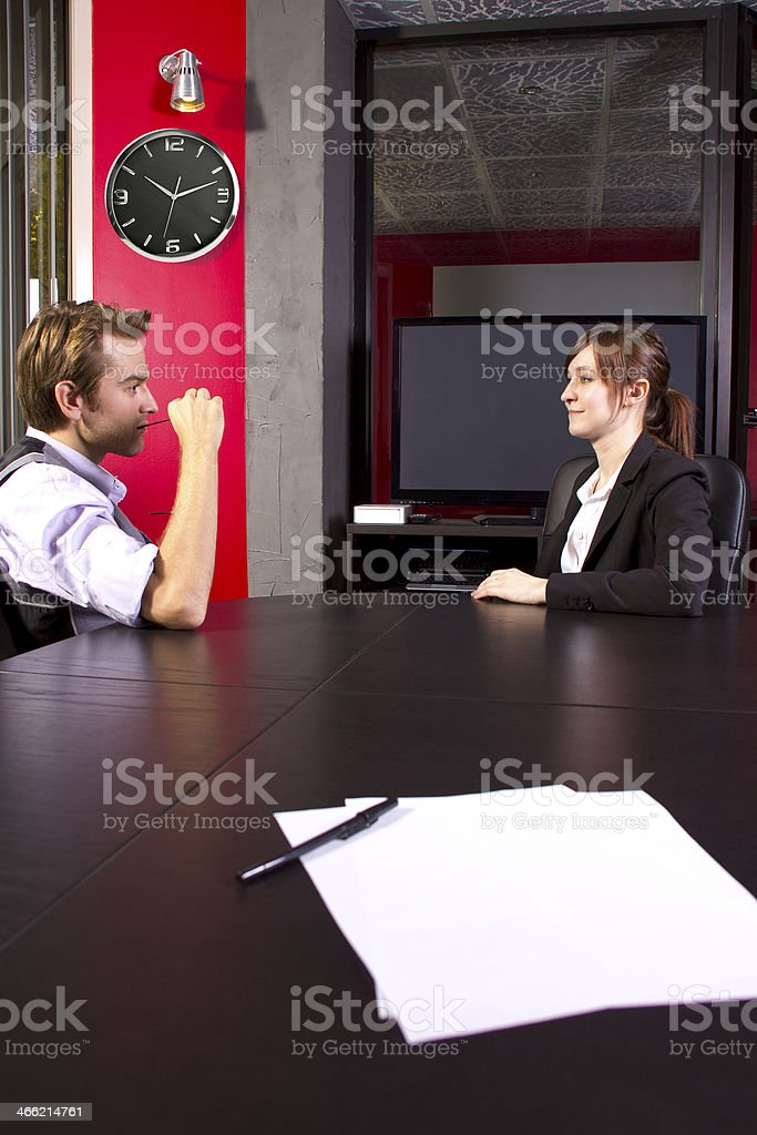 Business Partners in an Office Meeting stock photo