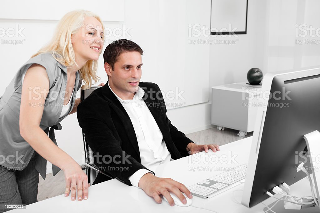 Business partners in the office stock photo