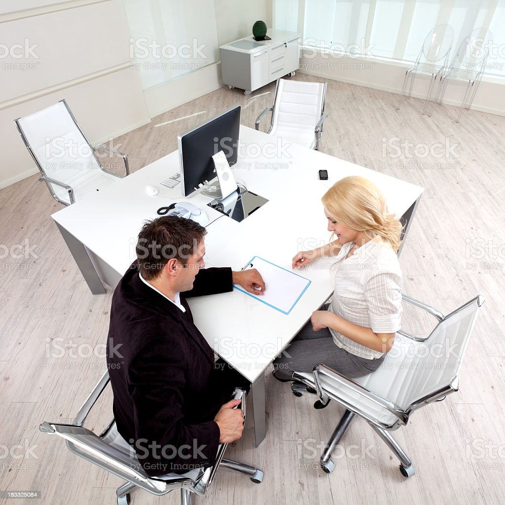 Business partners in the office royalty-free stock photo
