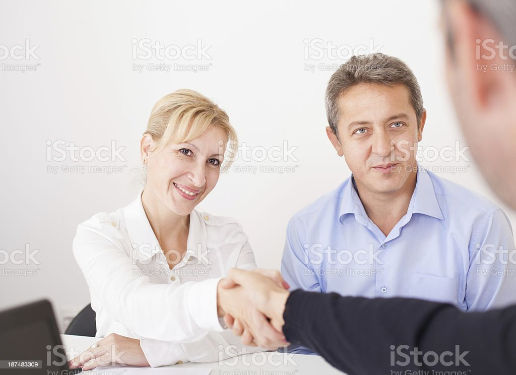 Business partners making a deal royalty-free stock photo