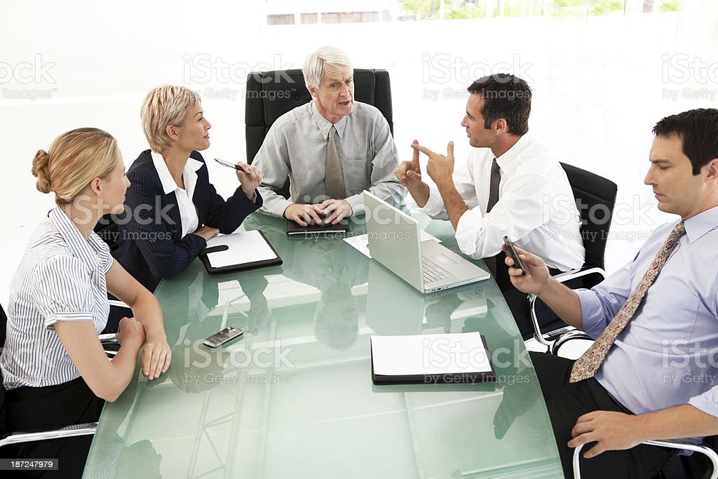 Business Partners Meeting with CEO royalty-free stock photo