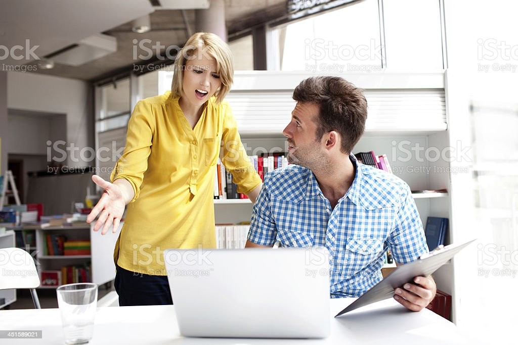 business partners  pick a quarrel royalty-free stock photo