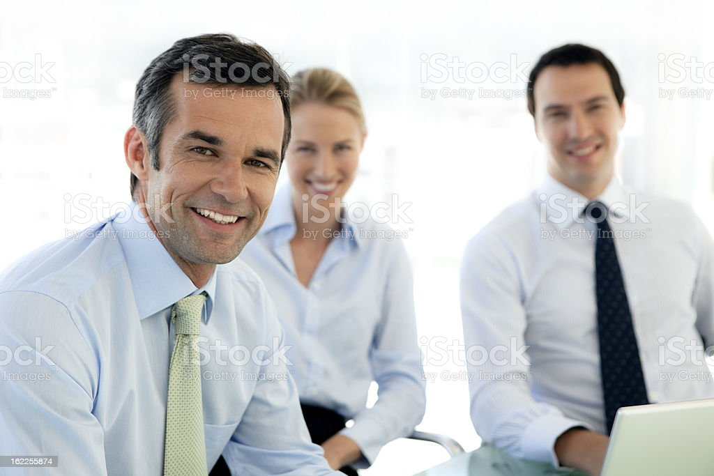 Business partners royalty-free stock photo