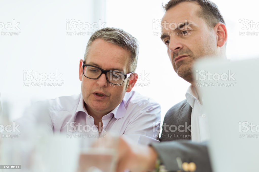 Business Partners Planning Next Project stock photo