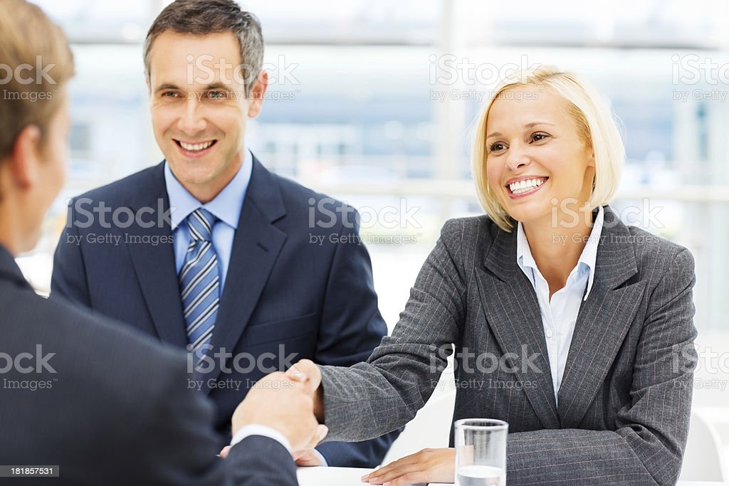 Business Partners Shaking Hands stock photo