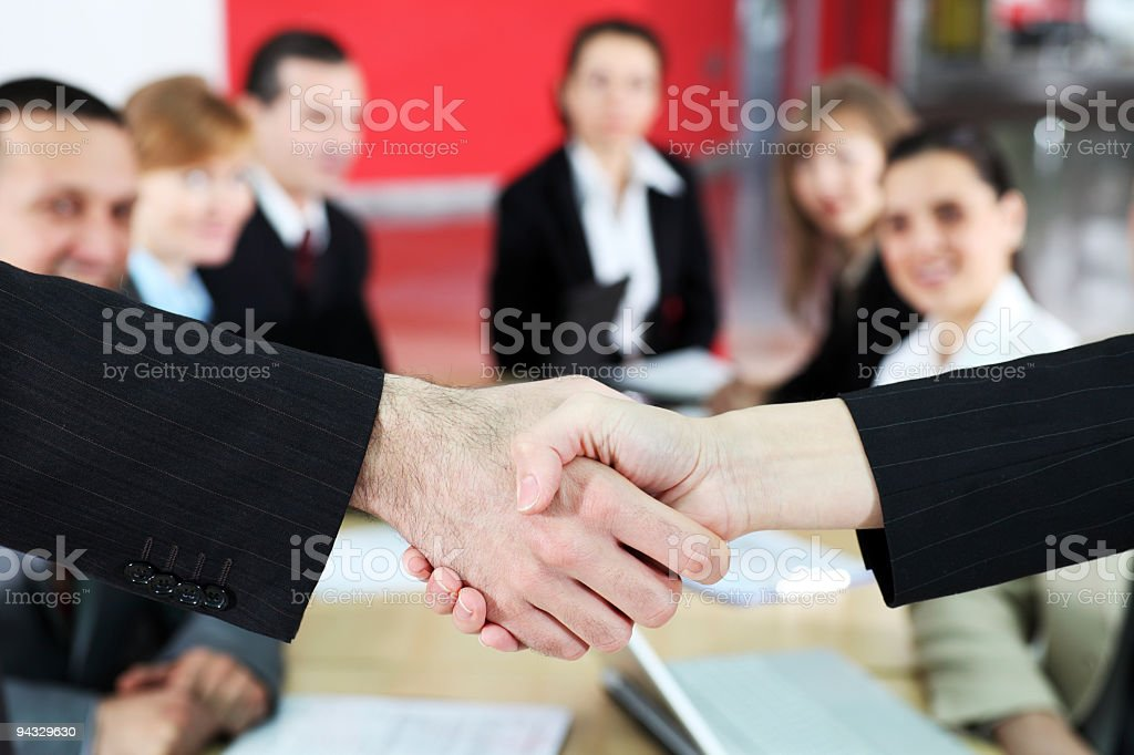 Business partners shaking hands. royalty-free stock photo