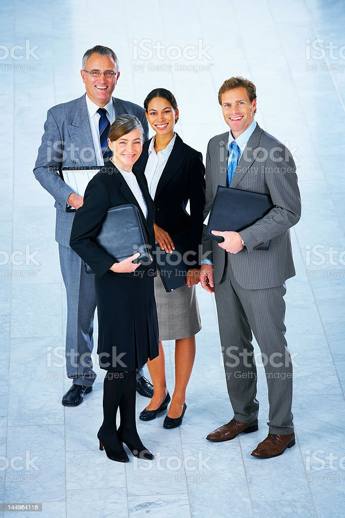 Business partners smiling royalty-free stock photo