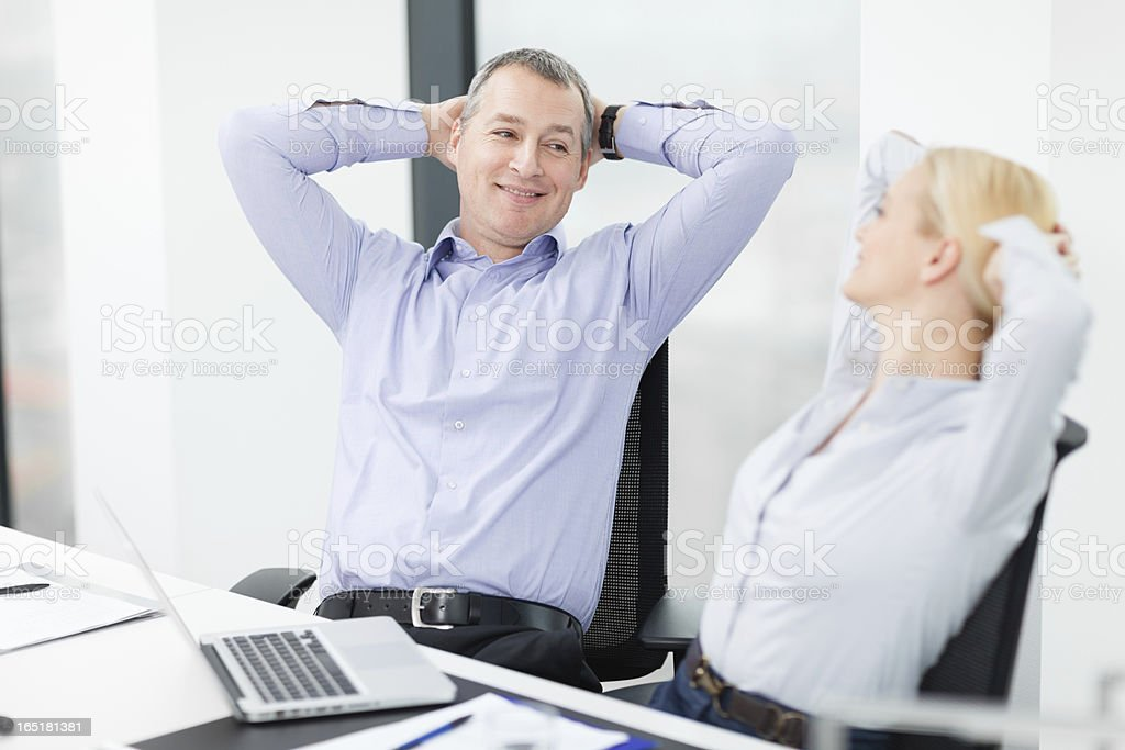 Business partners taking a break from work royalty-free stock photo