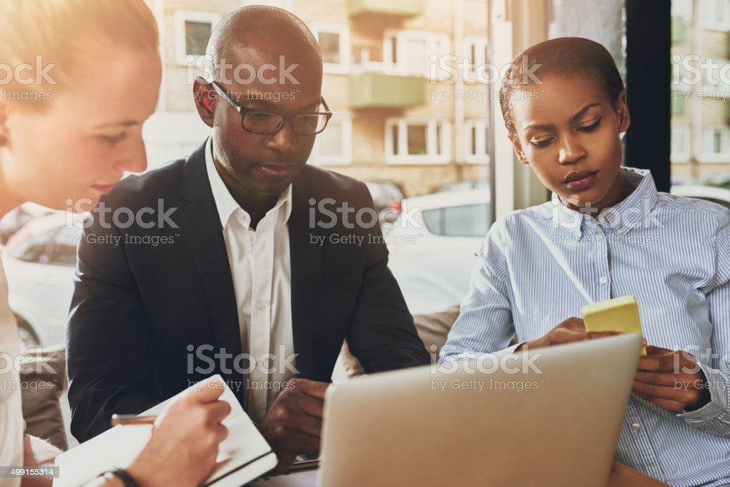 Business partners working stock photo