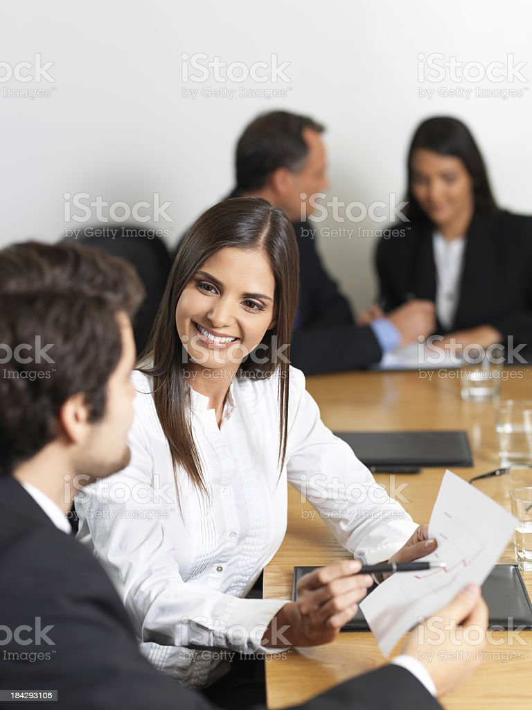 Business partners working together royalty-free stock photo