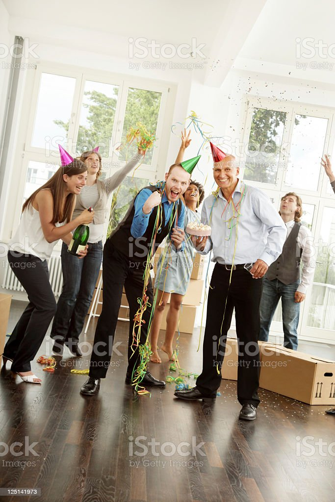 Business Party - Happy Group royalty-free stock photo