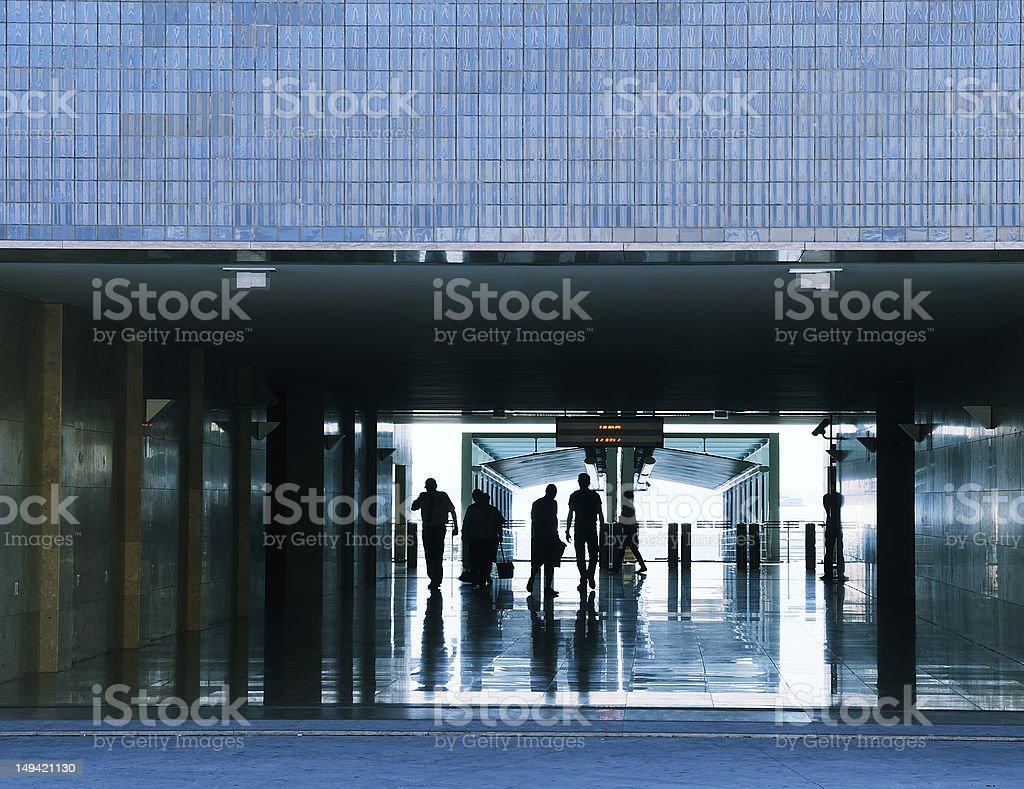 Business passenger walk royalty-free stock photo