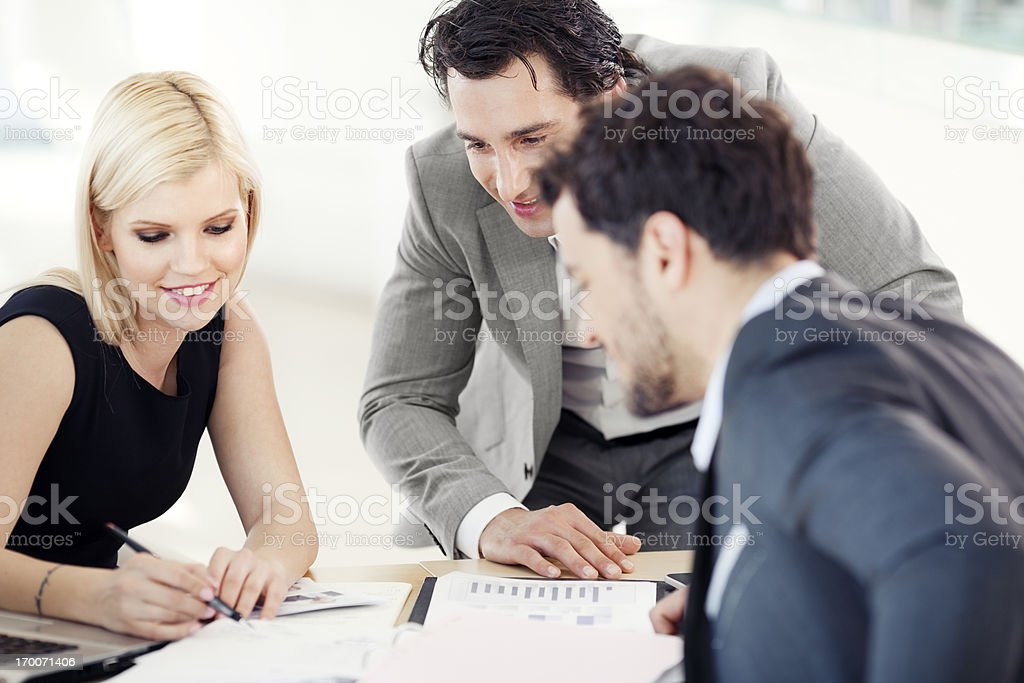 Business peopele having meeting in office royalty-free stock photo